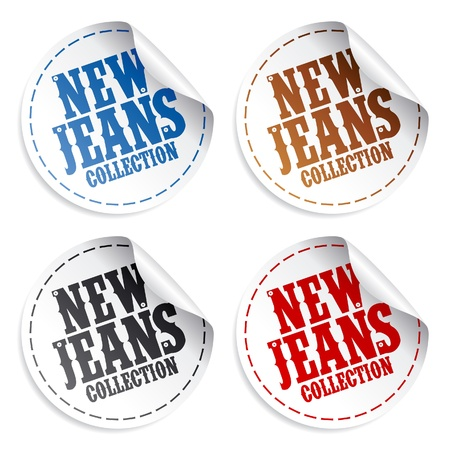 New Jeans collection stickers set Vector