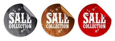 Sale collection tickers set Vector