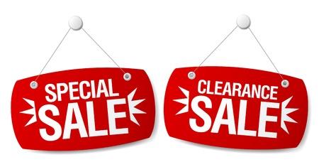 big sales: Special sale signs set.