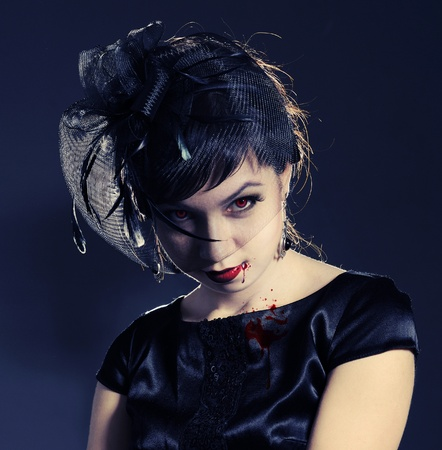 Portrait of a female vampire. Stock Photo - 9059498