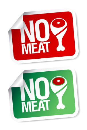 haunch: No meat stickers set. Illustration