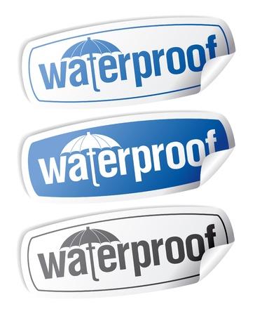 Waterproof stickers set. Stock Vector - 9059557