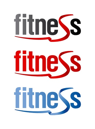 Fitness signs set.