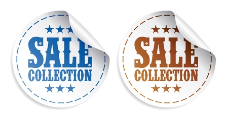 Sale collection tickers set Stock Vector - 9130928