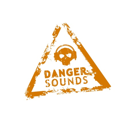 Danger sounds vector rubber stamp Vector