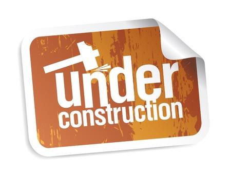 under construction grunge sticker Stock Vector - 9130943
