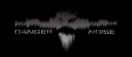 Danger noice vector background Vector