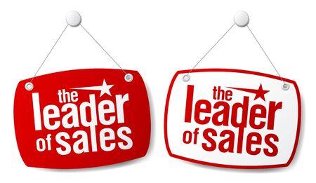 shopsign: The leader of sales signs set. Illustration