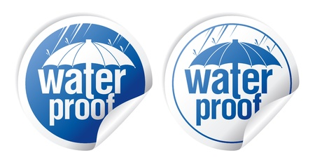 Waterproof stickers set.