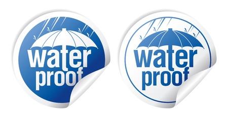 Waterproof stickers set. Vetores