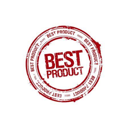 sello de vector mejor producto líder Ilustración de vector