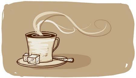 chicchi caff� su sfondo bianco: Segno di caff�