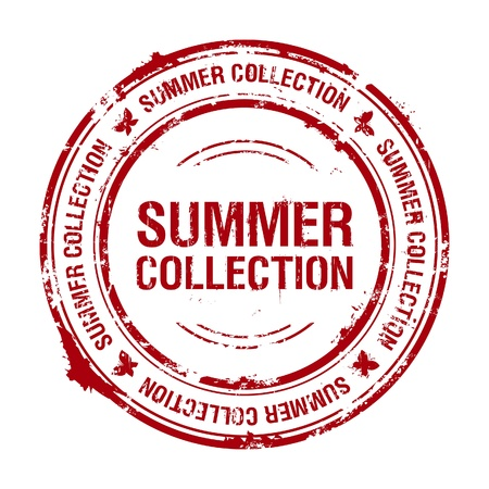 summer collection rubber stamp Stock Vector - 9291432