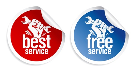 manufacturer: Best and free service guarantee stickers.