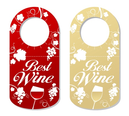 Tag for a bottle of best wine, wine label.
