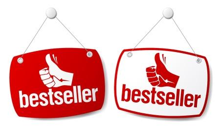 exclusive: Bestseller signs set. Illustration