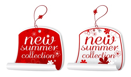 New summer collection labels. Stock Vector - 9334442