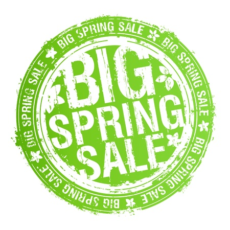 Big spring sale rubber stamp. Vector