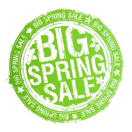 spring out: Big spring venta sello. Vectores