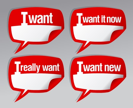 I want bubbles stickers with place for desirable. Vector