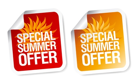 Special summer offer stickers. Stock Vector - 9407004