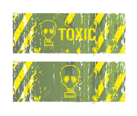 chemical weapon: toxic vector backgrounds