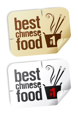 chinese food container: Best Chinese food stickers set.