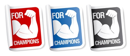 triceps: For champions stickers collection.