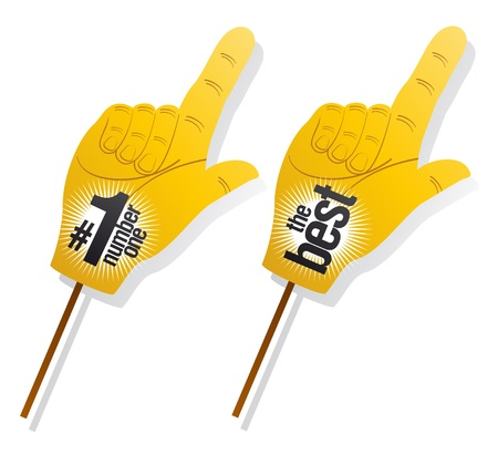 index finger: Best product pointer signs set Illustration