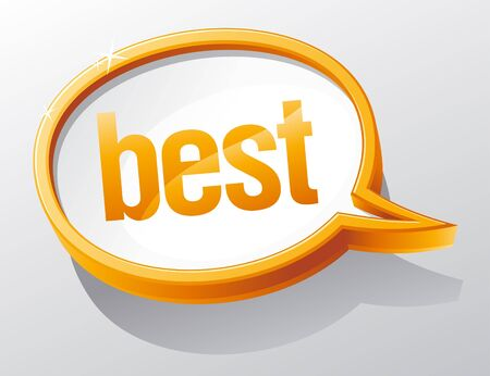 Best shiny glass speech bubble. Stock Vector - 9496639