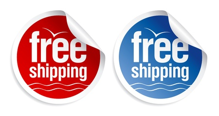 Free shipping stickers set. Vector