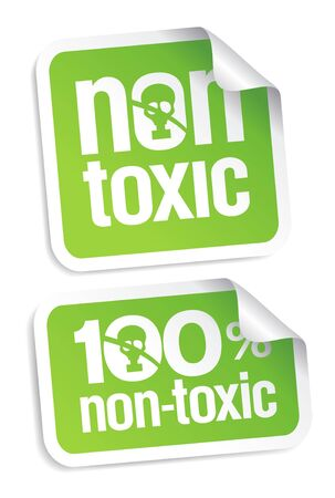 Non toxic product stickers set. Stock Vector - 9572431