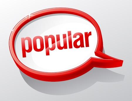 Popular shiny glass speech bubble. Stock Vector - 9646757