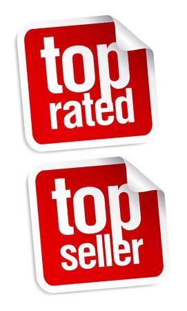 vendeurs: Autocollants vendeur set top