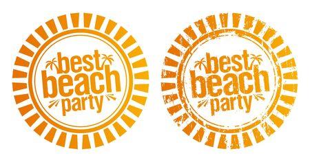 best party: I migliori Beach Party timbri. Grunge e la versione semplice.