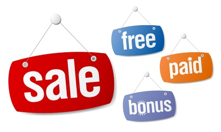 Set of sale and bonus signs Stock Vector - 9833007