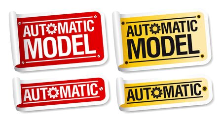 Automatic model stickers set. Stock Vector - 10201603