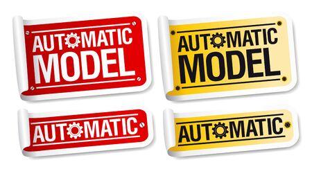 automatic: Automatic model stickers set. Illustration