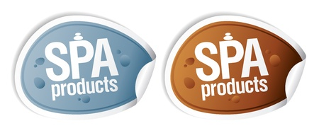 SPA products stickers set. Stock Vector - 10201599