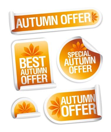 bargain price: Best autumn offers stickers set.
