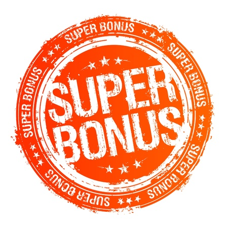 super market: Super bonus vector rubber stamp.
