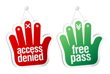 denied: Access denied and free pass tablets set.
