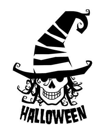 Grinning witcher in hat, halloween illustration. Stock Vector - 10481833