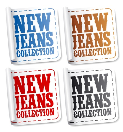 specify: New Jeans collection stickers set Illustration