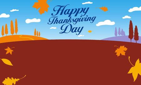Illustration for happy thanksgiving day celebration. Vector