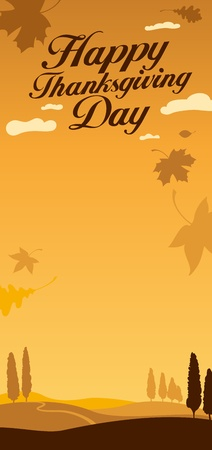 Illustration for happy thanksgiving day celebration. Vector