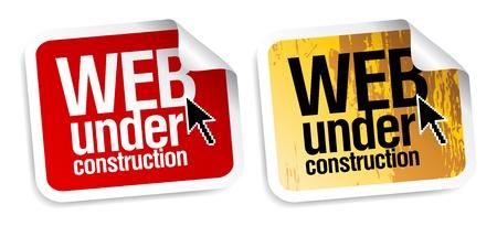 soon: Web in aanbouw stickers in te stellen.
