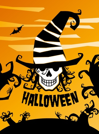 Halloween background illustration. Stock Vector - 10562044