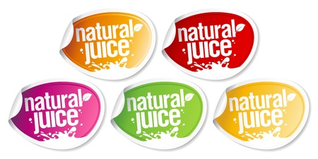unpeeled: Natural juice stickers set.