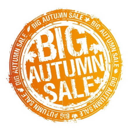 Big autumn sale rubber stamp. Stock Vector - 10848297